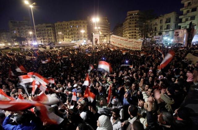 Thousands thronged to Cairo's Tahrir Square, anticipating Mubarak's resignation
